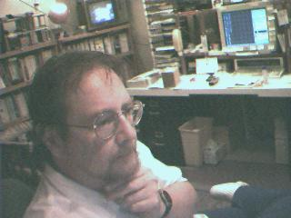 Laurence in Austin home office in 1997